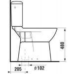 JIKA OLYMP 8.2361.7.000.000.1 WC kombi mísa zvýšená 50 cm, spodní - hluboké splachování