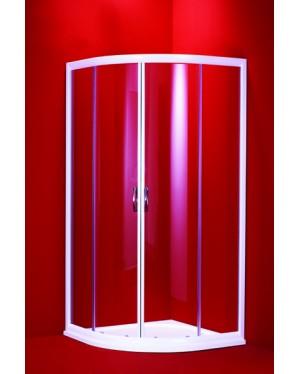 BARCELONA 90 mramorová vanička čiré sklo bílý rám Hopa sprchový kout -Akce