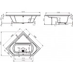 CAVALLO 140×140 Vagnerplast Vana rohová s podporou