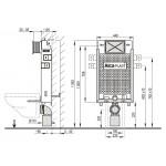 A115+M70 Renovmodul  AlcaPLAST kompletní instalační set