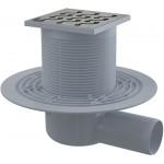 APV102 AlcaPlast Podlahová vpusť boční mosaz-chrom 105×105/50