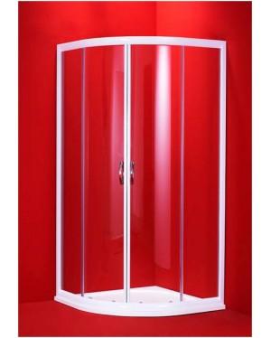 BARCELONA 90×90 bílý rám čirá Olsen-Spa sprchový kout,6mm čiré