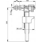 A15 1/2˝ AlcaPlast Napouštěcí ventil boční