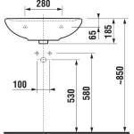 JIKA LYRA PLUS H8143810001041 Umyvadlo 50×41 cm s otvorem