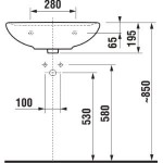 JIKA LYRA PLUS H8143820001041 Umyvadlo 55×45 cm s otvorem