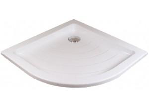 RAVAK RONDA 80 LA Sprchová vanička čtvrtkruhová 80 cm - bílá