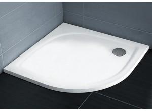 RAVAK ELIPSO PRO 90 FLAT Sprchová vanička čtvrtkruhová 90 cm - bílá