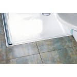 RAVAK PERSEUS PRO 100 CHROME Sprchová vanička čtvercová 100 cm - bílá