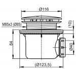 RAVAK PROFESIONAL 90 CR Sifon pro sprchovou vaničku 90 mm - chrom