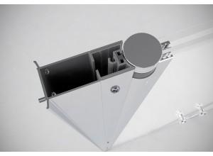 Rozšiřující profil pro dveře BETA od Well, 33 mm