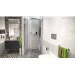 Sprchové dveře do niky otevírací Well ZETA 100, 80,8-101 cm, čiré sklo, hliníkový rám, univerzální