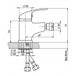 A10 10 02 SLIM Bidetová stojánková baterie s výpustí