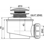 A465C-50 AlcaPlast Odtoková souprava click clack chrom
