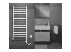 Set koupelnového radiátoru AMBRA R + topná tyč + sušák