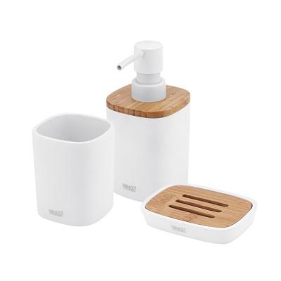 BADU Nimco Set do koupelny - Dávkovač, mýdlenka, dóza na kartáčky
