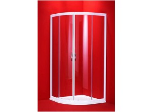 BARCELONA 100×100 bílý rám čirá Olsen-Spa sprchový kout, 6mm čiré