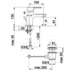 JADEIT Umyvadlová vodovodní baterie
