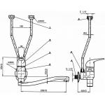BE1845AA Baterie nástěnná páková pro beztlakové ohřívače vody