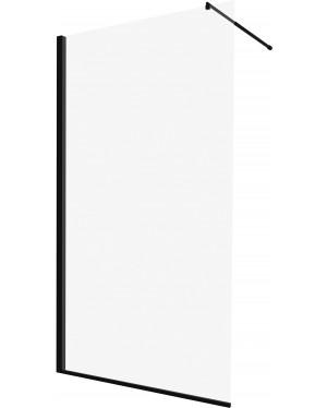 BELA 90 Clear BLACK Well Walk-in Sprchová zástěna