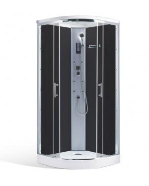 DARK 90 Well Masážní sprchový box se stříškou