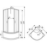 LISA 80 Well Sprchový masážní box  - Obrázek (1)