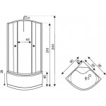 NODY 90 Well sprchový masážní box - Obrázek (1)