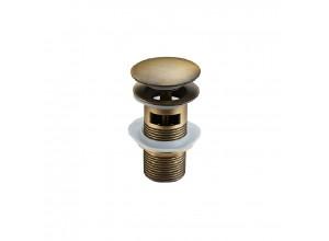 CLICK-CLACK Well výpusť s přepadem starožitná bronz
