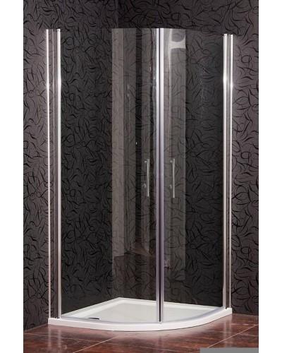 CHESTER 90 Clear MRAMOR Well Sprchový kout s mramorovou vaničkou