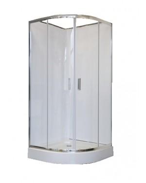 DOBRAO 90 Well Čtvrtkruhový sprchový kout s vaničkou