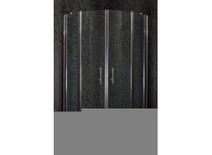 DOVER 90 Clear MRAMOR Sprchový kout čtvrtkruhový s mramorovou vaničkou