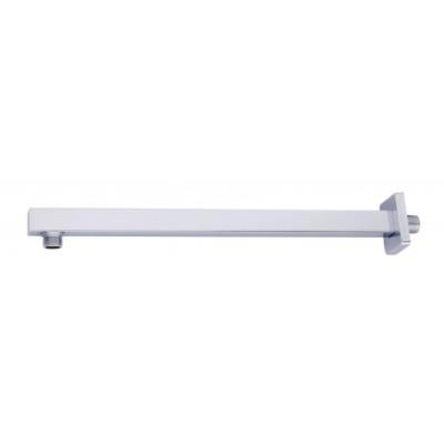 Držák hlavové sprchy ze zdi, hranatý, délka 400 mm