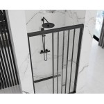 AXEL 91,5-101,5 Black Well Sprchové dveře trojdílné - posuvné