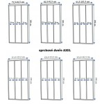 AXEL 131,5-141,5 chrom Well Sprchové dveře trojdílné - posuvné