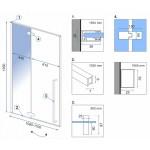 ERGO 110 Well Luxusní designové Sprchové dveře
