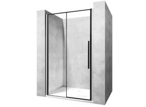 LAROS BLACK 130 Well Sprchové dveře s černými profily