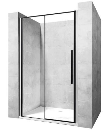 LAROS BLACK 100 Well Sprchové dveře s černými profily