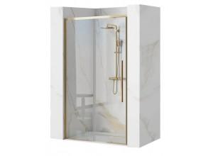 LAROS GOLD 120 Well Sprchové dveře se zlatými profily
