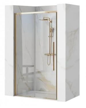 LAROS GOLD 100 Well Sprchové dveře se zlatými profily