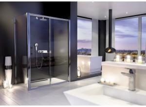 NYCity COMBI 100x90 Clear Sprchová zástěna s posuvnými dveřmi