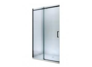 ORESTE 150 BLACK Clear Well Sprchové dveře do niky posuvné