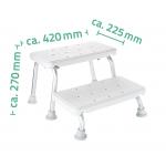 A0102001 Stolička dvoustupňová, nosnost 150 KG