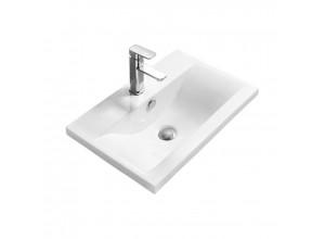 EMMEX Well umyvadlo zápustné 42 x 39 cm bílé