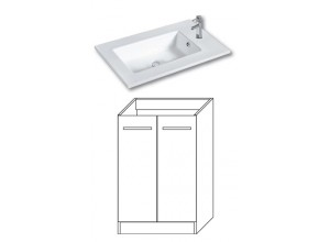 F-STANDARD-U55 Olsen-spa Skříňka s umyvadlem 55 cm, sokl, bílá