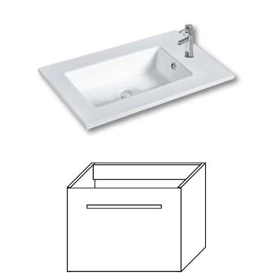 F-EXCLUSIVE-U55 Olsen-spa Skříňka s umyvadlem 55 cm, závěsná, arusha wenge