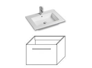 F-EXCLUSIVE-U60 Olsen-spa Skříňka s umyvadlem 60 cm, závěsná, ořech dijon