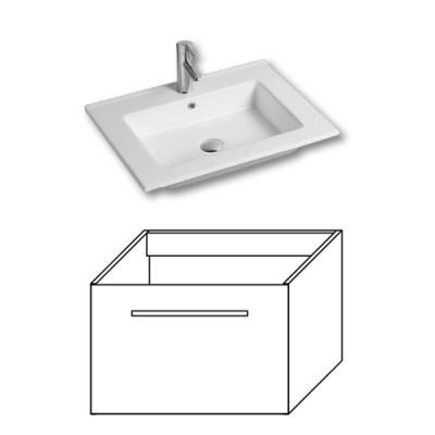 F-EXCLUSIVE-U80 Olsen-spa Skříňka s umyvadlem 80 cm, závěsná, bílá