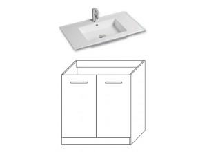 F-STANDARD-U80 Olsen-spa Skříňka s umyvadlem 80 cm, sokl, bílá