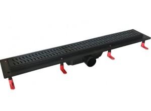 H-700 BLACK Well Sprchový odtokový podlahový žlab