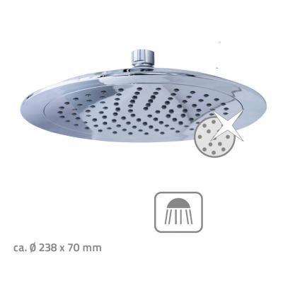 09149100 HONDURAS Talířová horní sprcha s kloubem plast/chrom