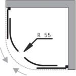 BARCELONA 80x80 bílý rám čirá Olsen-Spa sprchový kout